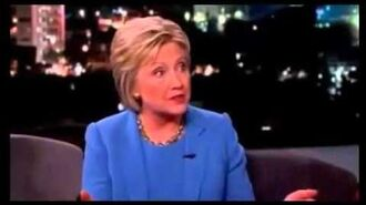 Hillary Clinton on Unexplained Aerial Phenomenon with Jimmy Kimmel March 24, 2016