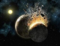 Planetary Earth collision