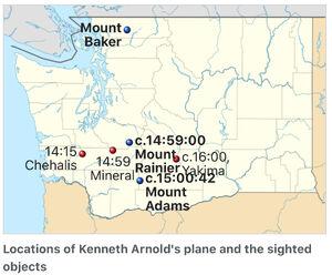 Kenneth Arnold sightings