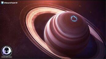 Alien ships within rings of Saturn, Jupiter, and Uranus 7 15 17