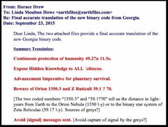 Binary codes translated warning