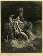 800px-Gustave Doré - The Holy Bible - Plate I, The Deluge