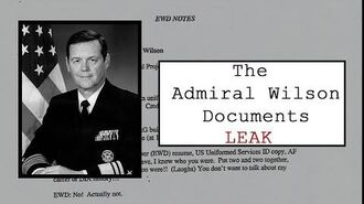 What is the Admiral Wilson UFO document leak?