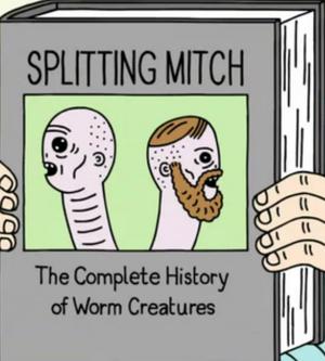 Two-headed worm creature Splitting Mitch