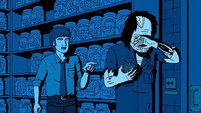 Zombie Tyler Mason and Mark Lilly in Municipal Brain Depository