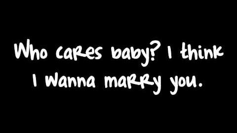 Marry You - Bruno Mars Lyrics