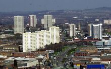 North side of Newtown, Aston. 3 Birchfield Road towers in the distance in north Aston.