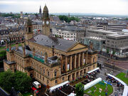 Paisley Town Hall and Piazza