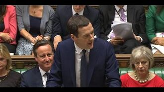 Chancellor delivers Summer Budget statement - Wednesday 8 July 2015