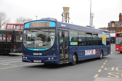 Diamond Bus Birmingham 30411 West Bromwich Bus Station Apr 14-S
