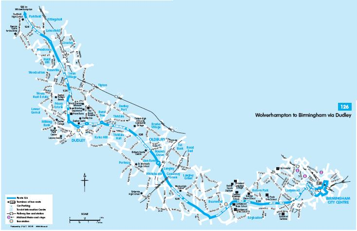 126 NWM route Map