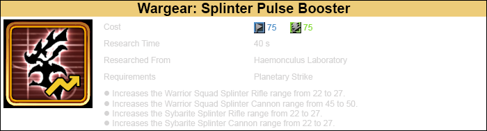 Research splinter pulse booster 1 warrior-3