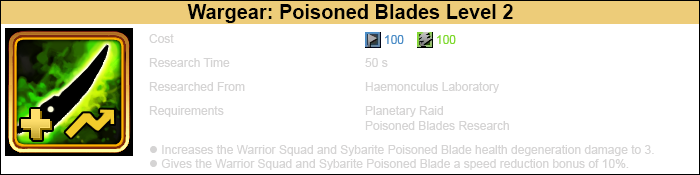 Research poisoned blades 2 warrior-1
