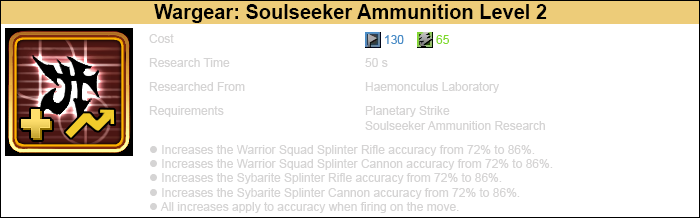 Research soulseeker ammunition 2 warrior-3