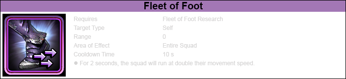 Ability fleet of foot-1
