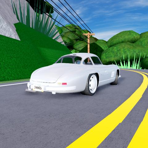 Rear end of 300 SL