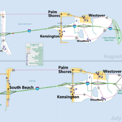 The 3rd generation map (above) and the 2nd generation map (below)
