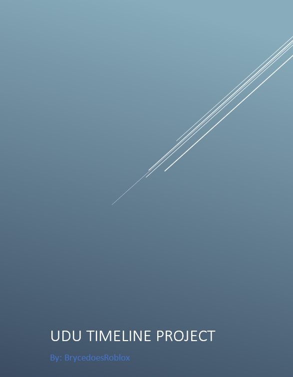 UDU Timeline Project | Ultimate Driving Roblox Wikia