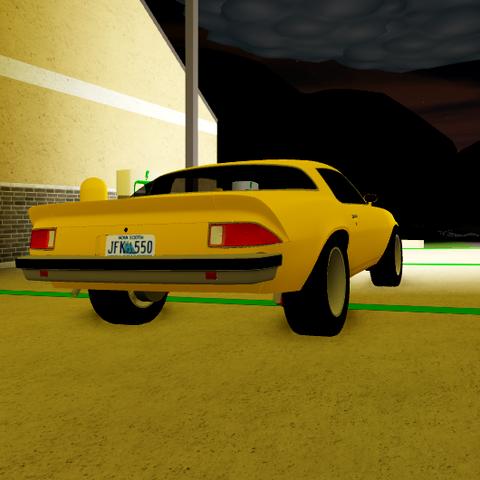 Rear end of 1974 Camaro