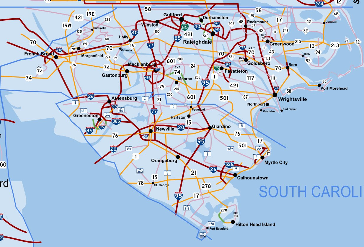 Image POOR CHOICES NC AND SC MAP Currentjpg Ultimate - Map of nc and sc