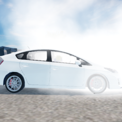 The Prius GT doing a burnout