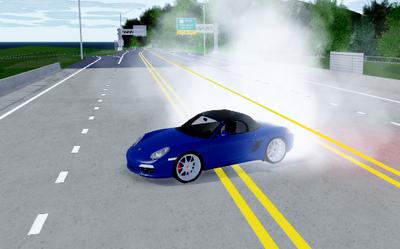 Porsche boxter s burnout