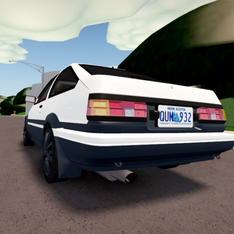 Rear end of Toyota AE86