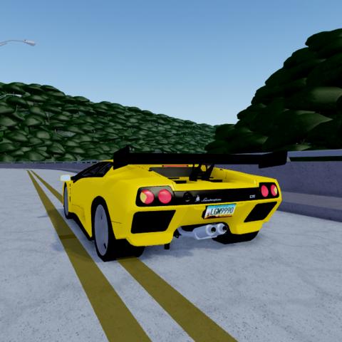 Rear end of Diablo GTR
