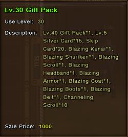 Level 30 Gift Pack