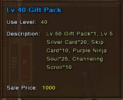 Level 40 Gift Pack