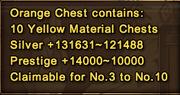 Orange reward chest