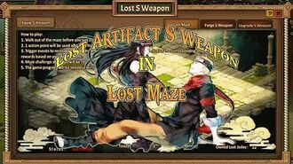Anime Ninja Lost Artifact S Weapon in Lost Maze Naruto Game Browser Online Game