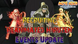 Anime Ninja Recruiting Reanimated Hiruzen Events Update Naruto Games Browser Online Games