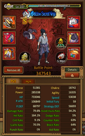 Unpgraded Sasuke