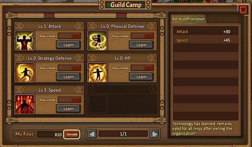 Guild camp