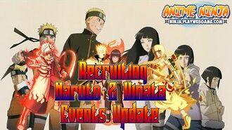 Anime Ninja Recruiting Naruto & Hinata Events Update Naruto Games Browser Online Games