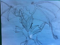Jade Dragonoid Drawing