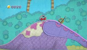 Kirby's Epic Yarn Wii gameplay screenshot