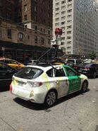 Rear view of Google Street View car