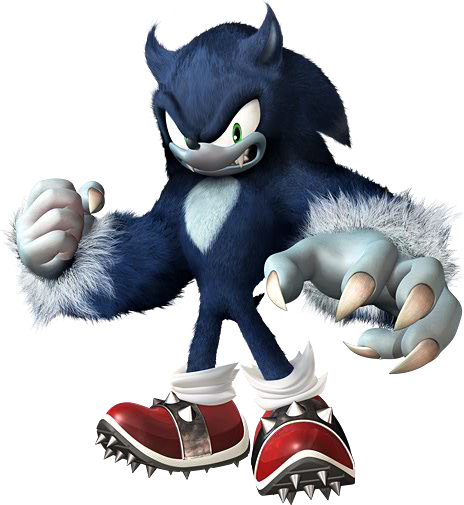 Official Artwork Of Sonic The Werehog