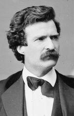 Mark Twain, Brady-Handy photo portrait, Feb 7, 1871, cropped