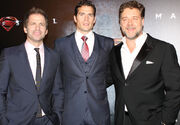 Zack Snyder, Henry Cavill, Russell Crowe (3)
