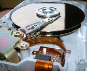 Innansicht Festplatte 512 MB von Quantum