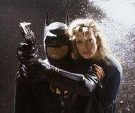 Batman (Michael Keaton) and Vicki Vale (Kim Basinger)