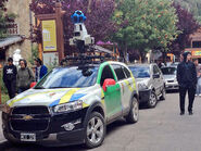 Google Street View car in Argentina