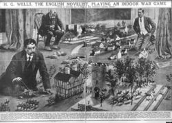 HG Wells playing to Little Wars