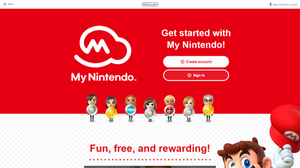 My Nintendo welcome page