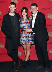 Matt Smith , Jenna Louise Coleman and Steven Moffat at the 72nd Annual Peabody Awards