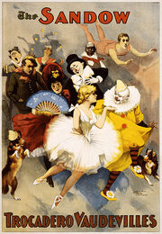 The Sandow Trocadero Vaudevilles, performing arts poster, 1894