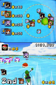 DS Mario and Sonic Dream Canoe event